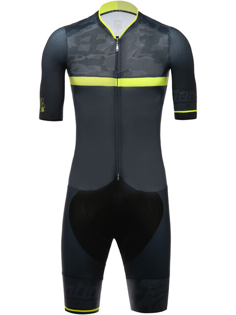 Santini River Skinsuit Men yellow